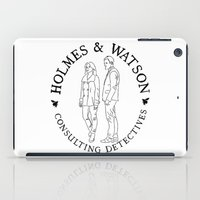 emma watson iPad Cases featuring holmes and watson stamp by Emma Harckham
