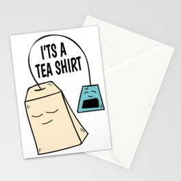 Tea pun coffee funny shirt gift Stationery Cards