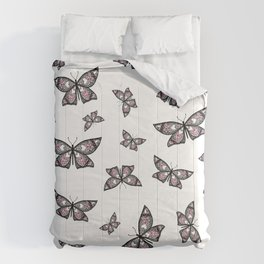 Fly With Pride: Demigirl Flag Butterfly Comforters