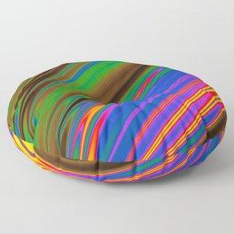Philadelphia Gay Pride Rippling Satin Texture Floor Pillow