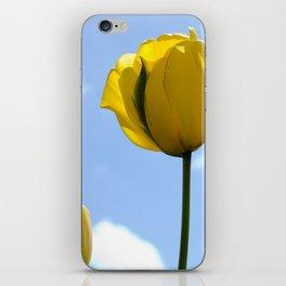 Yellow Tulip, Standing Tall iPhone Skin