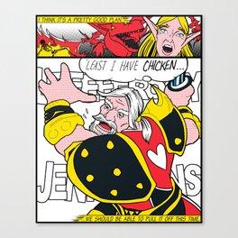 Leeeeee-ROY Lichtenstein!!! Canvas Print