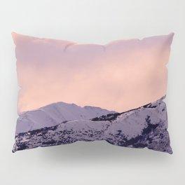 Kenai Mts Bathed in Serenity Rose Pillow Sham