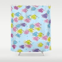 school Shower Curtains featuring School by Rebel June