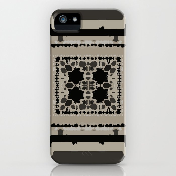 Beige and Black Perspective iPhone Case