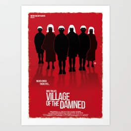 Village Of The Damned (New Version-Red Collection) Art Print