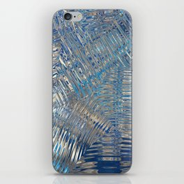 freeze glass with trees iPhone Skin
