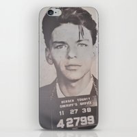 frank sinatra iPhone & iPod Skins featuring Frank Sinatra Mugshot (Front)  by All Surfaces Design