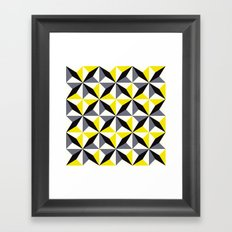 Geometric Pattern #165 (yellow triangles) Framed Art Print
