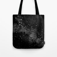 outer space Tote Bags featuring Outer Space by kris kang