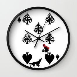 Curator Deck: The 7 of Spades Wall Clock