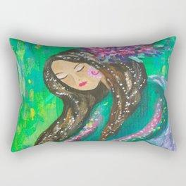 the green fairy Rectangular Pillow