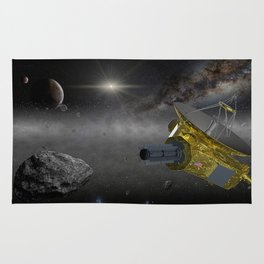 New Horizons space probe in the Kuiper belt Rug