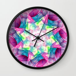 Vector Colorful Design Wall Clock