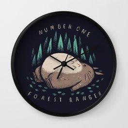 number one forest ranger Wall Clock