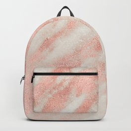 Desert Rose Gold Pink Marble Backpack