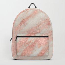 Desert Rose Gold Pink Marble Backpack