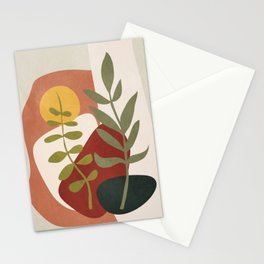 Two Abstract Branches Stationery Cards