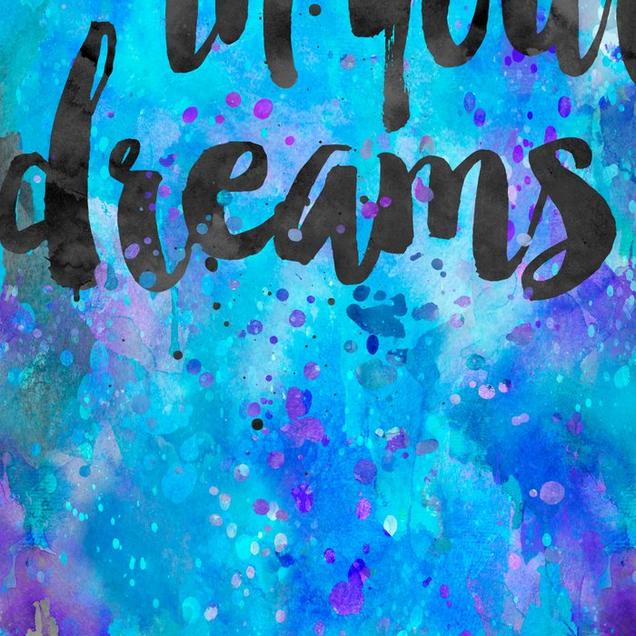 Believe in your Dreams inspirational watercolor typography Leggings