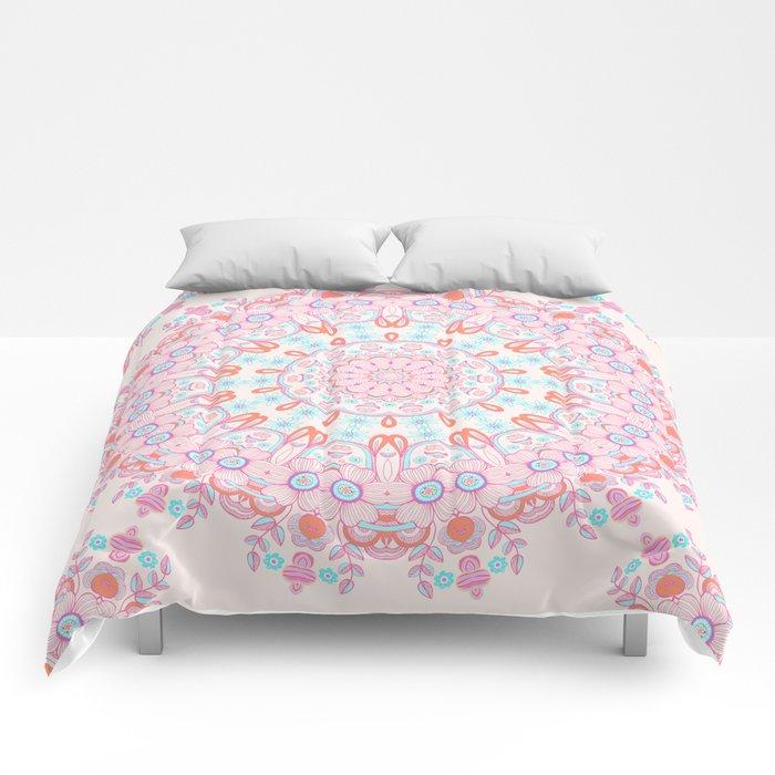Spring Rain Mandala Comforters