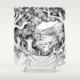 Ancient Forest Shower Curtain