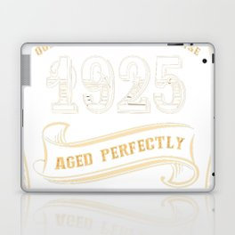 92nd-Birthday-Gift-Gold-Vintage-1925-Aged-Perfectly Laptop & iPad Skin