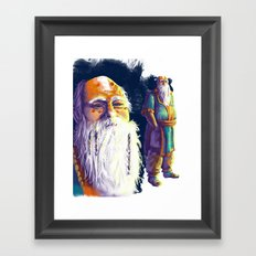 Space Monk Framed Art Print