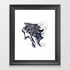 A Forest's Darkness Framed Art Print