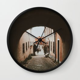 Lost in Visby Wall Clock
