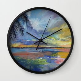 Islamorada Sunset Wall Clock