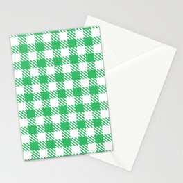 Plaid Pattern 512 Green Stationery Cards