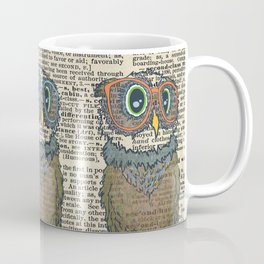 Owl wearing glasses Coffee Mug