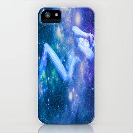 Blue Galaxy Woman : Nude Art iPhone Case