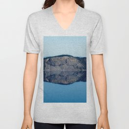 Crater Lake Reflection Unisex V-Neck