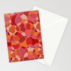 Circles in red Stationery Cards