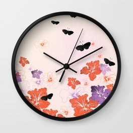 Flower Time! Wall Clock