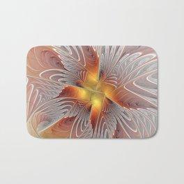 Fantasy Butterfly, Abstract Fractal Art Bath Mat