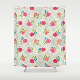 Vintage Farm floral Shower Curtain