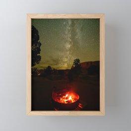 FIRESIDE UNDER THE SUMMER UTAH DESERT SKY PHOTOGRAPHY Framed Mini Art Print