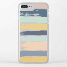 Pastel Stripes Clear iPhone Case