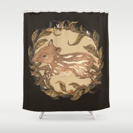 Living Fossil Shower Curtain