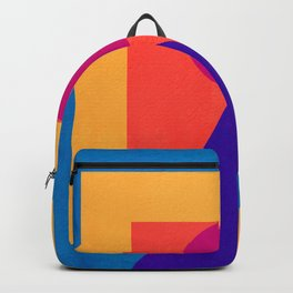 Abstract Christmas Tree Minimal Art Red and Blue Backpack