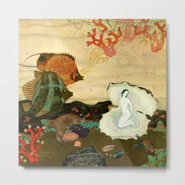 """""""The Birth of the Pearl"""" by Edmund Dulac Metal Print"""
