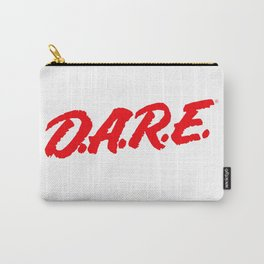 D.A.R.E. (Dare)  to keep kids off drugs Vintage Logo Shirt Carry-All Pouch