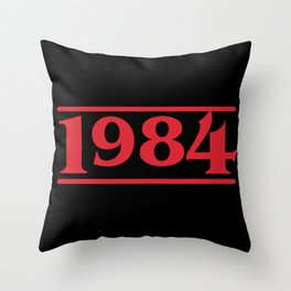 Strange 1984 Throw Pillow