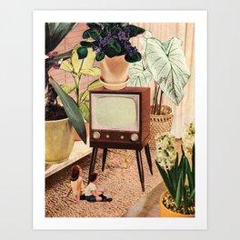 TV Room Art Print