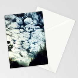 fluffy clouds freespirit Stationery Cards