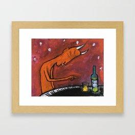 Underground pianist Framed Art Print