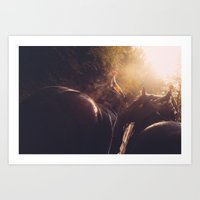 sisters Art Prints featuring Sisters by Tomas Hudolin