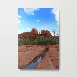 Sedona AZ Reflection Metal Print